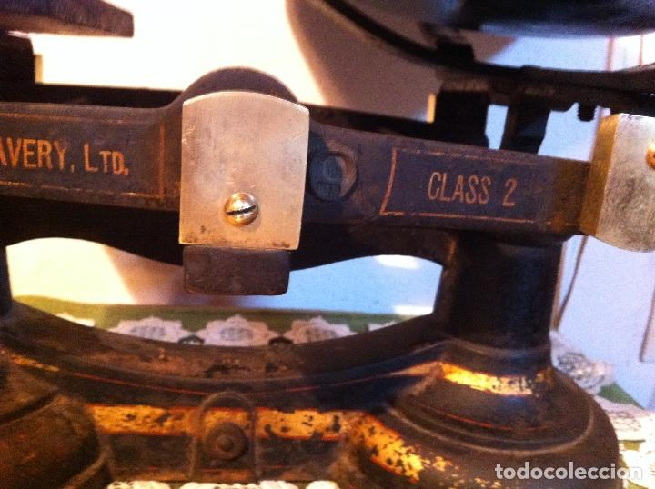 Antigüedades: GRAN BALANZA AVERY DE HIERRO FUNDICION Y PLATO PORCELANA CON JUEGO DE 7 PESAS (BI13+PW07) - Foto 9 - 139993534