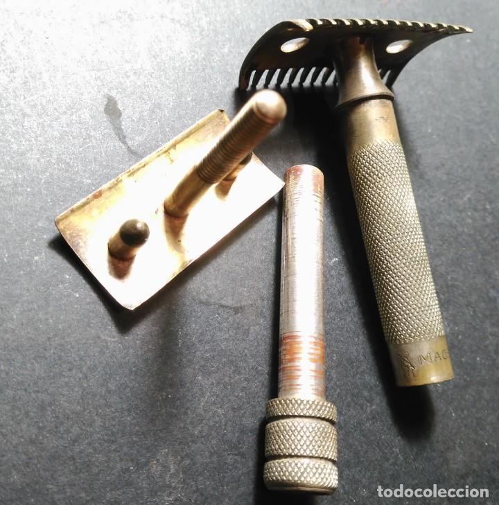 Antigüedades: MACERO (Henkel & Muller) Solingen, Rarisima maquinilla afeitar, barbero ,safety razor - Foto 6 - 140047070