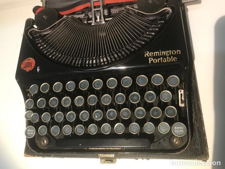 Antigüedades: Antigua máquina de escribir Remington Portable, Made in USA. Con maletín - Foto 3 - 140091333