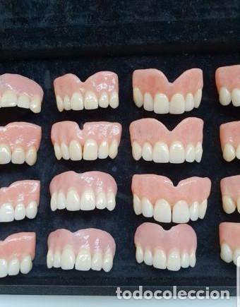 Antigüedades: Expositor completo de dentaduras de principios de 1900. Fantásticas. - Foto 5 - 140093486