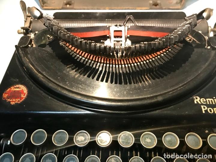 Antigüedades: Antigua máquina de escribir Remington Portable, Made in USA. Con maletín - Foto 14 - 140091333