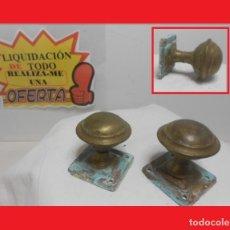 Antigüedades: ANTIGUOS POMOS TIRADORES EN BRONCE PRECIOSOS (IDEALES PARA RESTAURACIÓN) 100% ORIGINALES. Lote 140177974