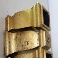 Antigüedades: CUATRO PATAS DE BRONCE PARA MESA ANTIGUA.. Lote 140197066