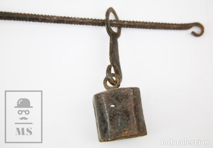 Antigüedades: Antigua Balanza Romana de Hierro Forjado / Forja Artesanal - Largo 40,5 cm - Foto 4 - 140223986