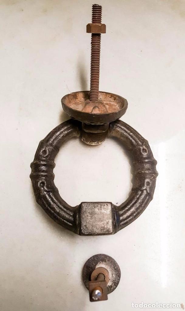Antigüedades: LLAMADOR, PICAPORTE DE HIERRO Y BRONCE - Foto 2 - 140268586