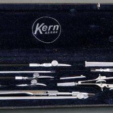 Antiques - Estuche completo de compas compases suizos Kern Aarau sin uso años 60 - 140357670