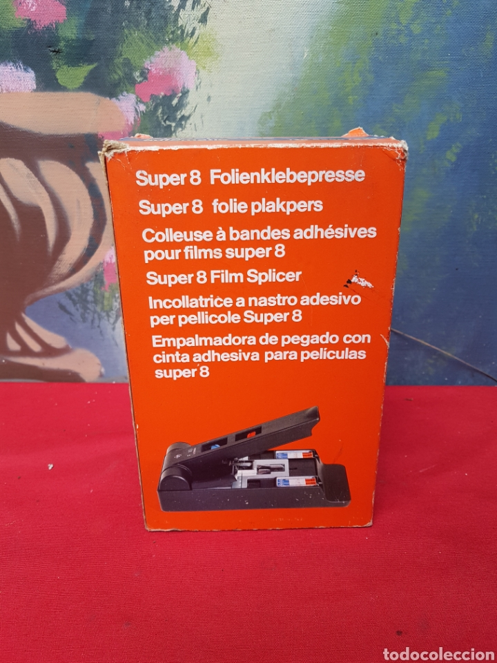 Antigüedades: Empalmadora, prensa de pegar película de super 8. Agfa f8s+caja+cinta adhesiva. Funciona - Foto 3 - 140370074