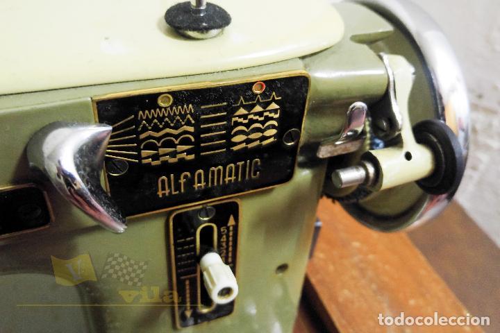 Antigüedades: Máquina de coser Alfamatic 103 - Foto 3 - 140373614