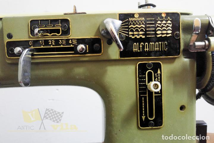 Antigüedades: Máquina de coser Alfamatic 103 - Foto 4 - 140373614