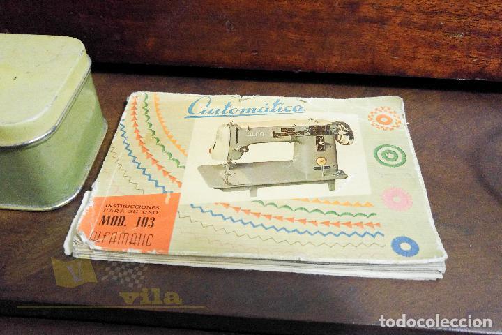 Antigüedades: Máquina de coser Alfamatic 103 - Foto 17 - 140373614