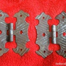 Antigüedades: BISAGRA 2 X BISAGRAS ANTIGUAS (1) PARA ARCÓN, BAUL, PUERTA, ETC. ETC. Lote 140393998