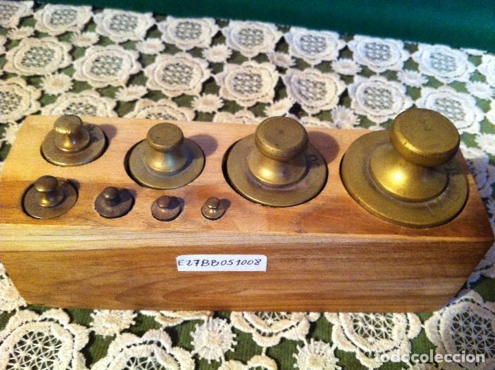 Antigüedades: PRECIOSA BALANZA AUSTRIACA CON JUEGO DE 8 PESAS DE BRONCE 100 AÑOS (BA 03+PE27) - Foto 5 - 140405018