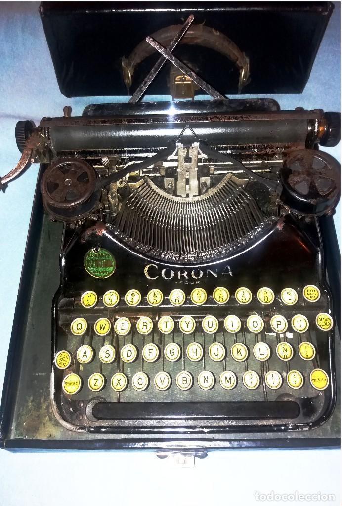 ANTIGUA MÁQUINA DE ESCRIBIR PORTÁTIL SMITH CORONA Nº4. CIRCA 1924. CON MALETÍN Y FUNCIONANDO. (Antigüedades - Técnicas - Máquinas de Escribir Antiguas - Smith)