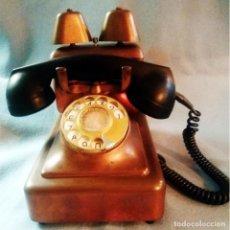 Teléfonos: ANTIGUO Y RARO TELEFONO DE COBRE, LATON Y BAQUELITA, FABRICADO 1940 POR BELL. AMBERES. Lote 159129694