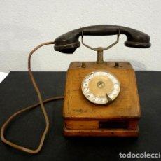 Teléfonos: TELÉFONO DE MADERA DE 1920. Lote 140414702