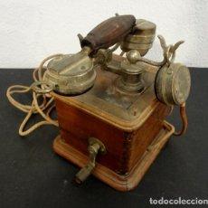 Teléfonos: TELÉFONO DE MADERA DE 1910. Lote 140417930