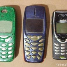 Teléfonos: LOTE 3 MOVILES CLASICOS NOKIA ANTIGUOS MODELOS 3310 3510 8210 + BATERIAS MOVIL SIN PROBAR MOBIL. Lote 140476406