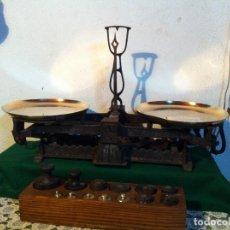 Antigüedades: FANTASTICA BALANZA HUNGARA CON 12 FULCROS Y JUEGO DE PESAS(BB 05+PQ15). Lote 140527374