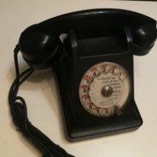 Teléfonos: TELEFONO NEGRO DE BAQUELITA FUNCIONANDO SOLO RECIBIR LLAMADAS,ORIGEN MARROQUÍ. Lote 140528662