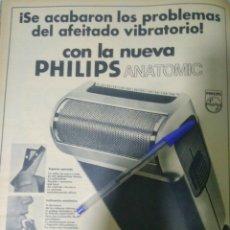 Antigüedades: AÑO 1973 RECORTE PRENSA PUBLICIDAD MAQUINILLA AFEITAR PHILIPS. Lote 140544077