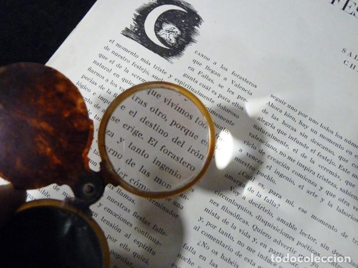 Antigüedades: ANTIGUA LUPA Y ESPEJO DE BOLSILLO. CELULOIDE IMITACIÓN CAREY. 7x4,7 cm. AÑOS 20. PLEGABLE. LENTE - Foto 4 - 140556666