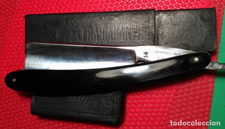 Antigüedades: GARANTIET SOLINGEN 14 con caja, Bien Cuidada, navaja afeitar,barbero, staight razor, rasoio - Foto 2 - 140591826