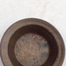Antigüedades: ANTIGUA VASIJA VACIA BRONCE S XIX EXCEPCIONAL PIEZA BARBERIA COLECCION. Lote 140707526