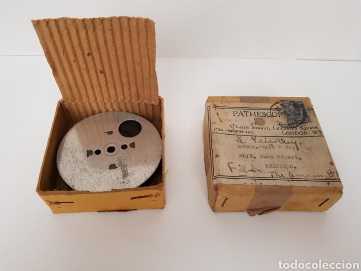 INEDITO Y MUY RARO - CINTA GRAVADA DEL DUQUE DE YORK INAUGURANDO PUENTE. PHATHESCOPE 9,5 MM. (Antigüedades - Técnicas - Aparatos de Cine Antiguo - Proyectores Antiguos)