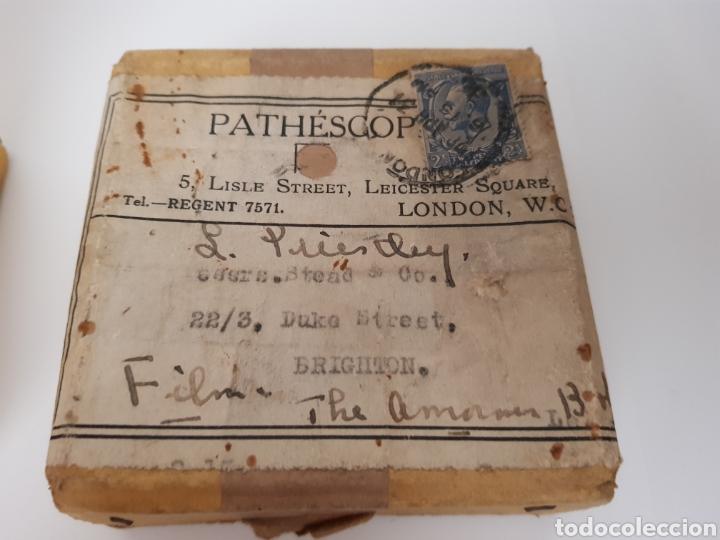 Antigüedades: INEDITO Y MUY RARO - CINTA GRAVADA DEL DUQUE DE YORK INAUGURANDO PUENTE. PHATHESCOPE 9,5 mm. - Foto 2 - 140715437