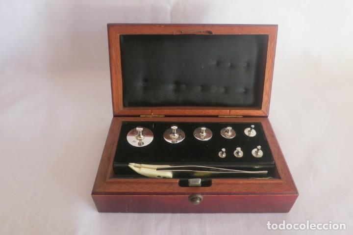 CAJA DE PESAS DE PRECISION MARCA SARTORIUS (Antigüedades - Técnicas - Medidas de Peso - Ponderales Antiguos)