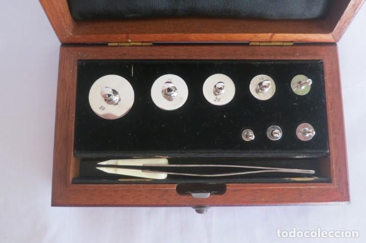 Antigüedades: caja de pesas de precision marca Sartorius - Foto 2 - 140767906