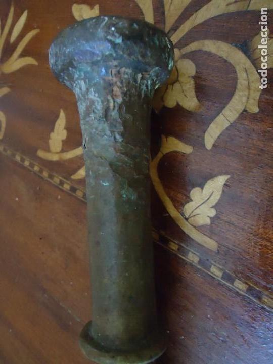 Antigüedades: ALMIREZ. MORTERO DE BRONCE CON 6 COSTILLAS, ANTIQUÍSIMO, SIGLO XVII, XVIII. VER FOTOS. 1 - Foto 5 - 140774858