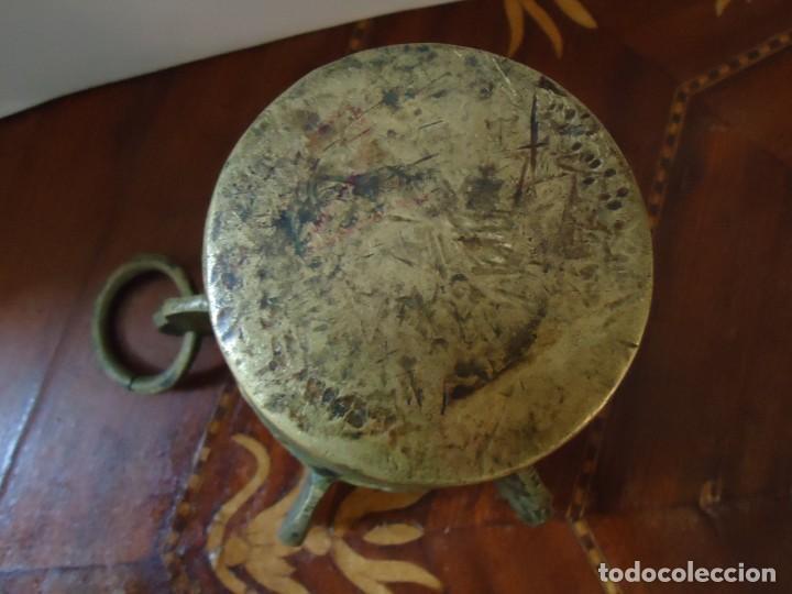Antigüedades: ALMIREZ. MORTERO DE BRONCE 6 COSTILLAS, MAZA Y ARGOLLA. ANTIQUÍSIMO, SIGLO XVIII. VER FOTOS.2 - Foto 3 - 140779686