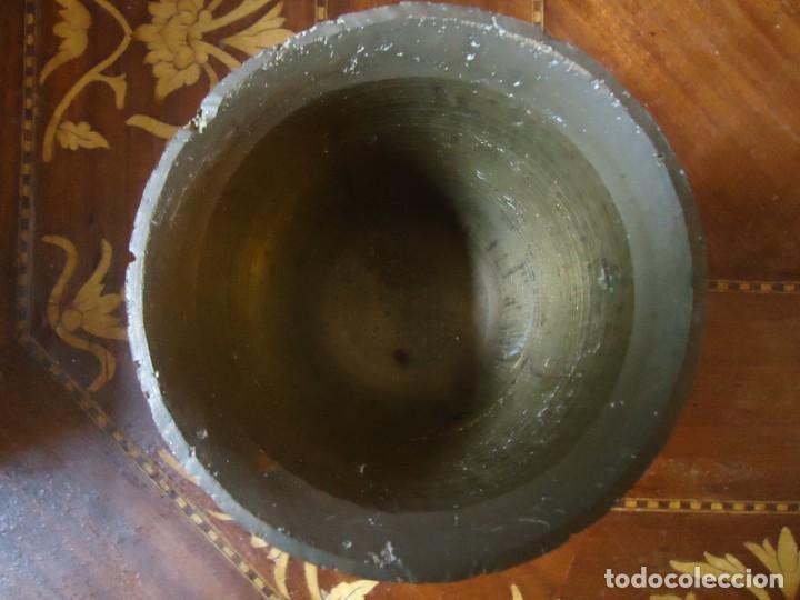 Antigüedades: ALMIREZ. MORTERO DE BRONCE, GRABADA EN FORMA DE COPA. ANTIQUÍSIMO.VER FOTO. 7 - Foto 5 - 140788946