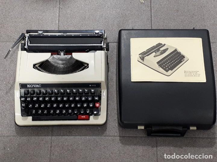 MÁQUINA DE ESCRIBIR - KOVAC M-113 - CON MANUAL Y CAJA (Antigüedades - Técnicas - Máquinas de Escribir Antiguas - Otras)
