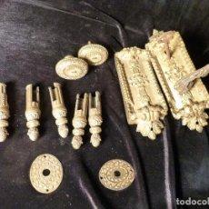 Antigüedades: ANTIGUA CERRADURA DE LATON. Lote 143277621