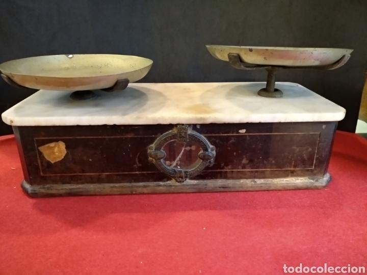 Antigüedades: Balanza de farmacia S.XIX BERANGER - Foto 3 - 140848504