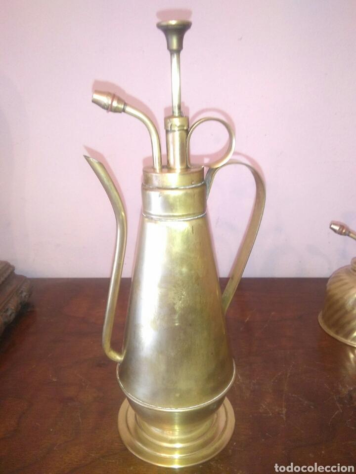 Antiquitäten: ANTIGUOS PULVERIZADORES DE LATON - Foto 2 - 140868946