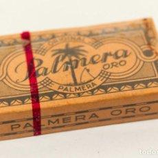 Antigüedades: CAJA 10 HOJAS DE AFEITAR PALMERA ORO. CON PRECINTO. NUEVA. PERFECTO ESTADO. COLECCIÓN. 11,20 PTAS.. Lote 140888858