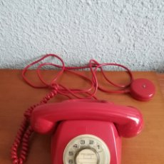 Teléfonos: TELÉFONO ROJO FABRICADO EN CITESA MÁLAGA - DECORACIÓN VINTAGE. Lote 140889681