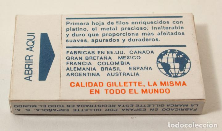 Antigüedades: Lote 4 paquetes de hojas de afeitar Gillette Super Platinum. 5 hojas cada. Fab en España. colección - Foto 4 - 140893518