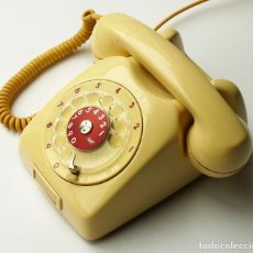 Teléfonos: MAGNÍFICO TELÉFONO ANTIGUO DE SOBREMESA BEIS Y ROJO SUECO LM ERICSSON VINTAGE AÑOS 60 70 FUNCIONANDO. Lote 140894102