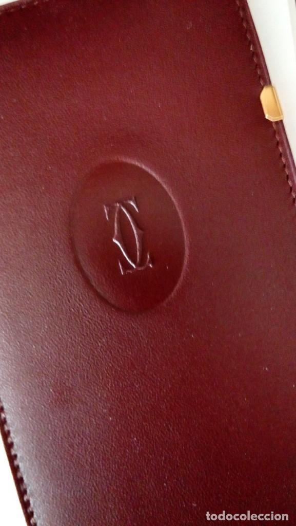 Antigüedades: Cartier . Funda de fina piel para gafas con logo. Sin uso - Foto 3 - 246545050