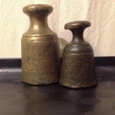 Antigüedades: DOS PESOS CATALANS, MARCATS EN LLIURES, S. XIX. Lote 140901602
