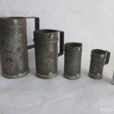 Antigüedades: MEDIDAS DE LIQUIDOS ESPAÑOLAS PEQUEÑAS. Lote 140914054