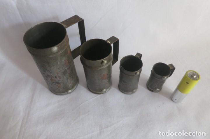 Antigüedades: medidas de liquidos Españolas pequeñas - Foto 2 - 140914054