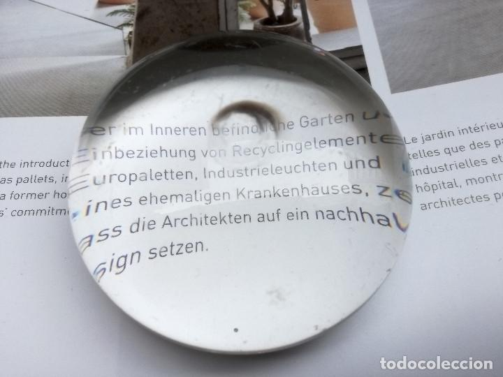 LUPA DE CRISTAL ANTIGUA (Antigüedades - Técnicas - Instrumentos Ópticos - Lupas Antiguas)