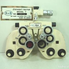 Antigüedades: ANTIGUO FOROPTERO- R&B MIYUKI KODEN MADE IN JAPAN - MODEL F - TESTER PARA GRADURA VISTA OPTICA. Lote 141180998