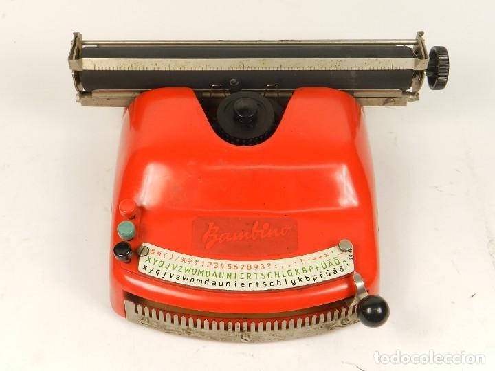 Antigüedades: Antigua máquina de escribir Bambino, año 1954 - Foto 3 - 141222282
