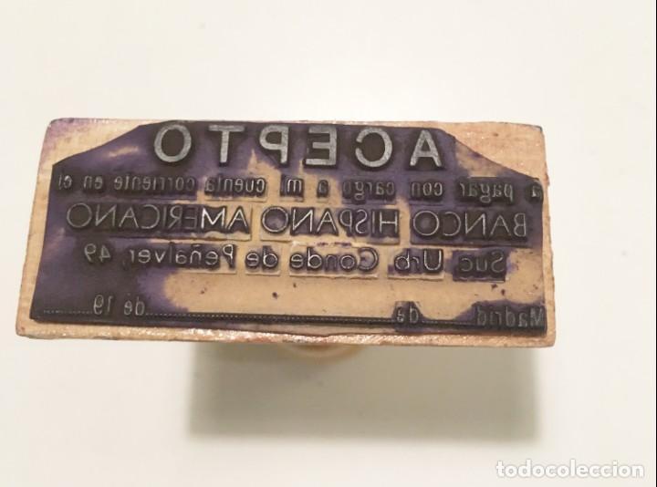 Antigüedades: Tampón Banco Hispano Americano - Foto 2 - 141261262